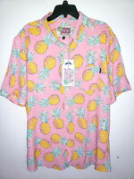 Mens Simply Southern Short Sleeve Party Button Up Shirt New Size 2XL Pineapples
