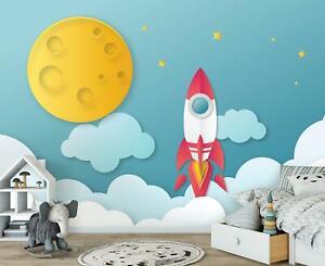 Fototapete Tapete Wandbild F19939 Weltall für Kinder Weltall Kosmos kindlich Mot