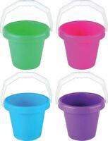 Kids 4 Different Colours Beach Bucket Play Toy Sandbox Castle Summer Outdoor