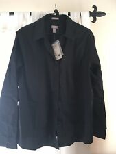 Chicos Wrinkle Resistant Black Shirt Size Usa 3 Uk Xl