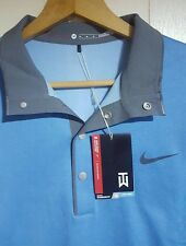 Tiger Woods Nike Golf Polo Long Sleeve Pullover Size Medium NWT - $130.00 Blue