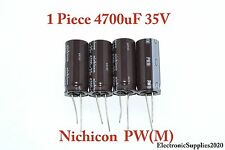 1 Piece Capacitor Nichicon 4700uF 35v 105C 18x40mm. Low ESR. Radial. US Seller