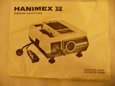 Instructions slide projector HANIMEX RONDETTE 1200A 1200RF  CD/EMail