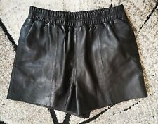 NEW River Island Heritage real leather shorts all saints, lined, UK 10