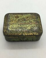"Antique Very Rare Advertising Tin Box ""Tablette Regina Gelle Treres Paris France"