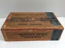 Santa Clara Cigar Mfg. Co Brunswick Smoker Clear Habana Wooden Cigar Box