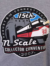 Men's T-Shirt Gray N-Scale Collector Convention 2007  2XL XXL