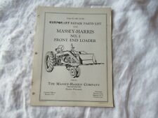 1951 Massey Harris Mh 1 Front End Loader Parts List Catalog Manual