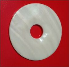 Genuine Mother-of-Pearl 50mm Donut Bead