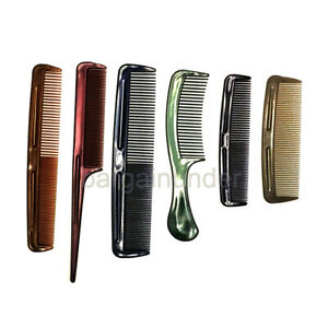 6 Assorted Plastic Comb Set Hair Styling Hairdressing Salon Barbers Men Women