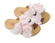UGG STACEE SEASHELL PINK SPARKLY BOW SANDALS SLIPPERS SIZE 3 YOUTH