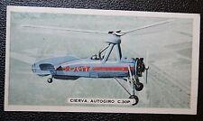 CIERVA AUTOGIRO C30P    Original 1935 Glossy Colour Card