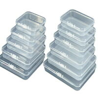 5PCS Clear Plastic Storage Box Jewelry Tool Craft Container Beads Organizer