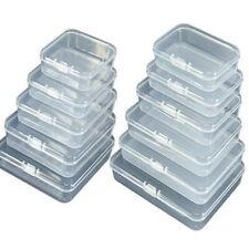 5PCS Caixa de armazenamento de plástico transparente ferramenta Joias Artesanato recipiente Miçangas Organizador