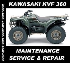 Kawasaki Kvf360 Atv Quad Service Manual Kvf 360 Maintenance Repair 2003 - 2009