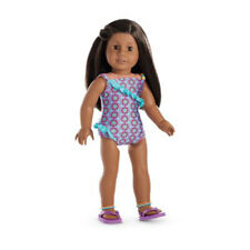 "American Girl MY AG BOHO BEACHY SWIMSUIT for 18"" Dolls Sandal Summer Retired NEW"