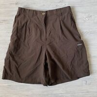 Exofficio brown high waisted cargo nylon outdoor Shorts Womens Size 10