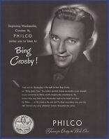 1946 PHILCO 1213 CHIPPENDALE RADIO Vintage Look REPLICA METAL SIGN BING CROSBY