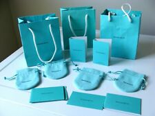 TIFFANY & Co BIG LOT NEW JEWELRY POUCHES, GIFT BAGS, PERFUME SAMPLE VIALS, CARDS