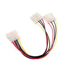 4Pin IDE 1 macho a 2 Hembra Puerto Fuente De Alimentación Cable Y Splitter multiplicador D Enchufe