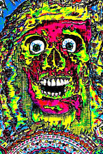 "PUNK - VEGETABLE (THE ARTIST) SILKSCREEN 1985 ""SOMETIMES I SCARE MYSEL"" Original"
