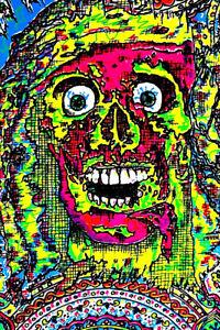 "PUNK - VEGETABLE ARTIST SILKSCREEN 1985 ""SOMETIMES I SCARE MYSELF"" Original RARE"