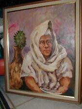 "CHARLES JONES  Antique Santa Fe N Mexico, ORIGINAL  1964 OIL PAINTING ""ABUELA""."