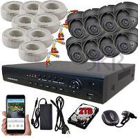 Sikker 8 Channel 1080P DVR 2 Megapixel Varifocal Dome Camera Security System 2TB