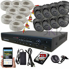 Sikker 8 Channel 1080P DVR 2 Megapixel Varifocal Dome Camera Security System 2TB