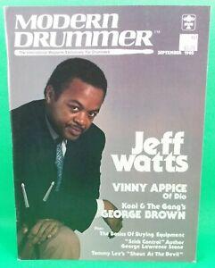 Modern Drummer September 1985 Jeff Watts Vinnie Appice No mail label BRAND NEW!