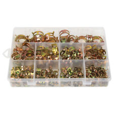 155pcs Zinc Plated Spring Hose Pipe Clamps Air Clip Clamp 10 Sizes 6-22mm