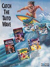 Original 1992 Taito LITTLE SAMSON Nintendo NES video game print ad page