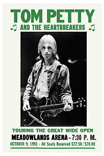 Tom Petty & Heartbreakers at New Jersey Concert Poster 1991