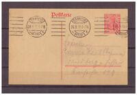 Deutsches Reich, Ganzsache P 107 Frankfurt am Main nach Friedberg 26.09.1919