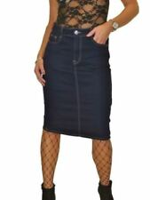 Cotton Blend Knee-Length Plus Size Straight, Pencil Skirts for Women