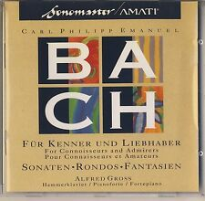 C.P.E. Bach - Gross: For Connoisseurs and Admirers(CD, May-1992, Amati) Like New