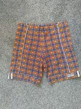 Adidas cycling shorts 12 Vintage Checked Tartan Blue And Orange retro rare class