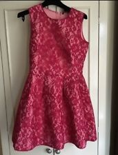 Pink Lace Dress Size 14 UK