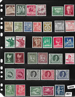#6898  Stamp set 56 different Mint stamps / Third Reich / Hitler / WWII Germany