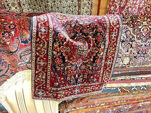 "Auth:  Antique Sarouk Farahan    Rare P E R S I  A N  Collectors  Pc  26X30""  NR"