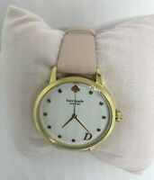 """NWT kate spade Monogram Watch """"D"""" initial KSW9010D Pink Leather Band MSRP $195"""