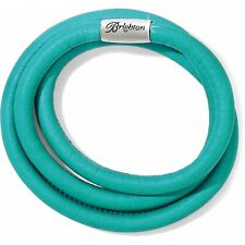 NWT Brighton WOODSTOCK SEA Green Blue TRIPLE Leather Bracelet MSRP $60