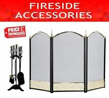 Brass Vintage/Retro Fireplace Screens