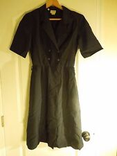 Vintage Crest Career Images Flight Attendant Dress US Air Navy Double Breasted S