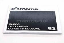New Owners Manual GL650 SILVERWING WING 1983 Genuine Honda OEM Book    #K66