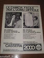 AB24=1963=CAMICIA CASSERA 2000=PUBBLICITA'=ADVERTISING=WERBUNG=