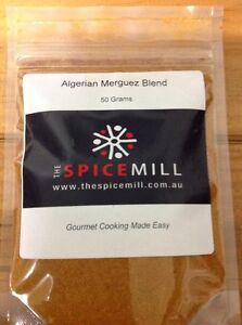 Algerian Merguez Sausage - Hot Spice Blend - 50 grams- GLUTEN FREE