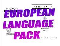 EURO LANGUAGE PACK DISK 7 LANGUAGES