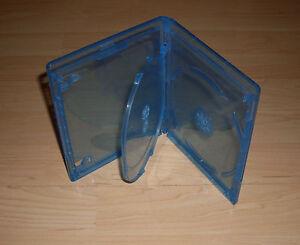 Blu Ray Hülle Dreifach 3fach 3-fach blau Blu-Rays Blue Ray 3er 12,5 mm Neu