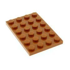 1 x Lego System Bau Platte dunkel orange braun 4 x 6 für Set Star Wars 4502 3032